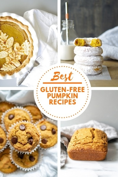 Collage of four photos for best Gluten-Free Pumpkin Recipes