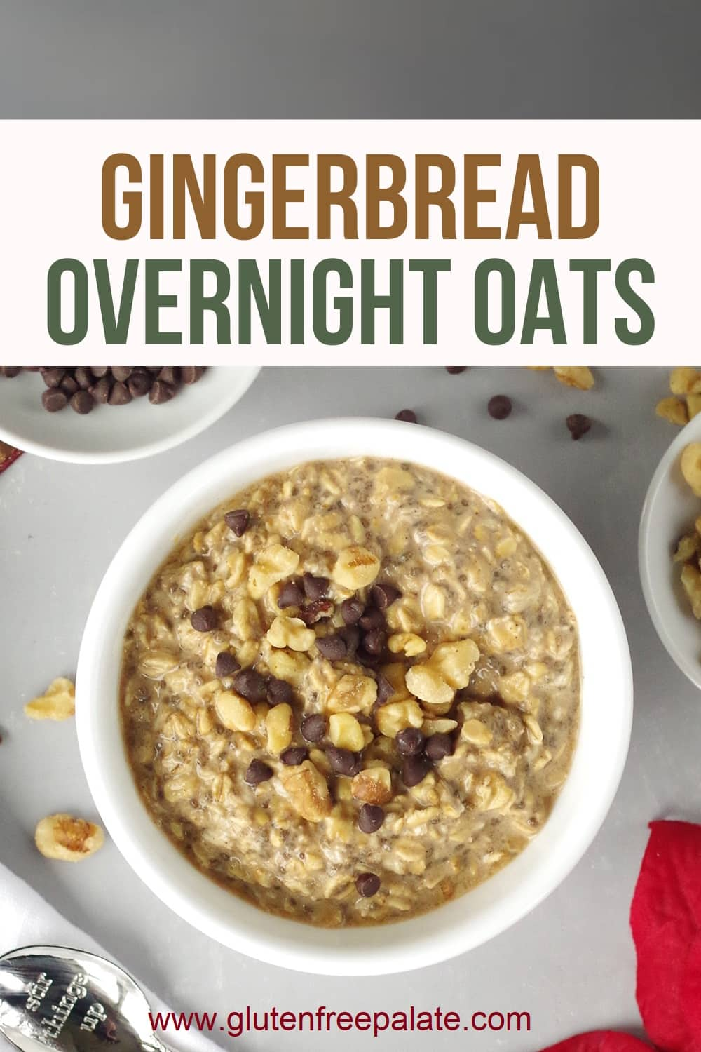 pinterest pin for gingerbread overnight oats