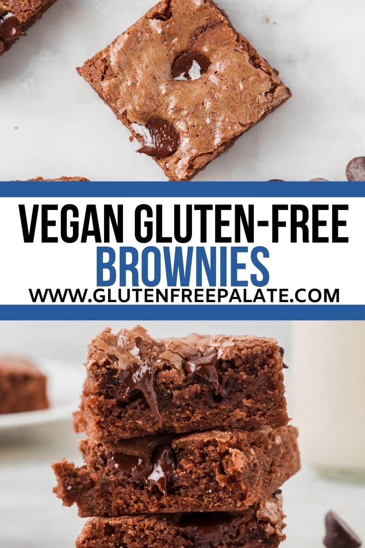 pinterest pin collage for vegan gluten free brownies