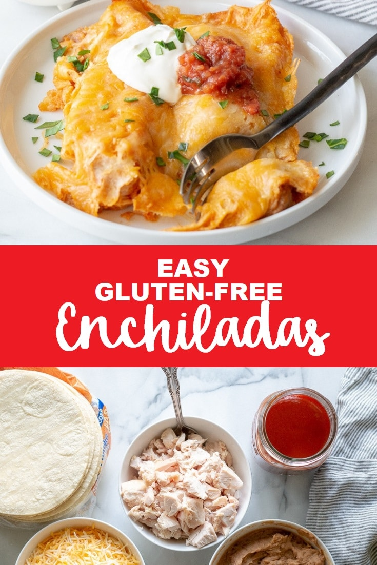 Gluten-Free Enchiladas that are easy to make and require minimal ingredients. You are going to love this gluten-free enchiladas recipe once you see how simple it is.