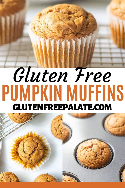 pinterest pin for gluten free pumpkin muffins