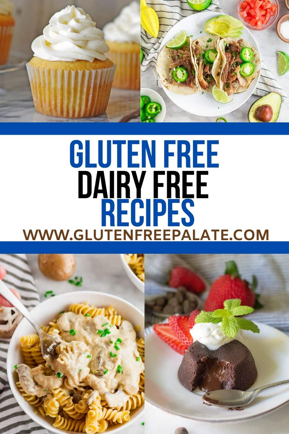 a pinterest pin collage for gluten free dairy free recipes