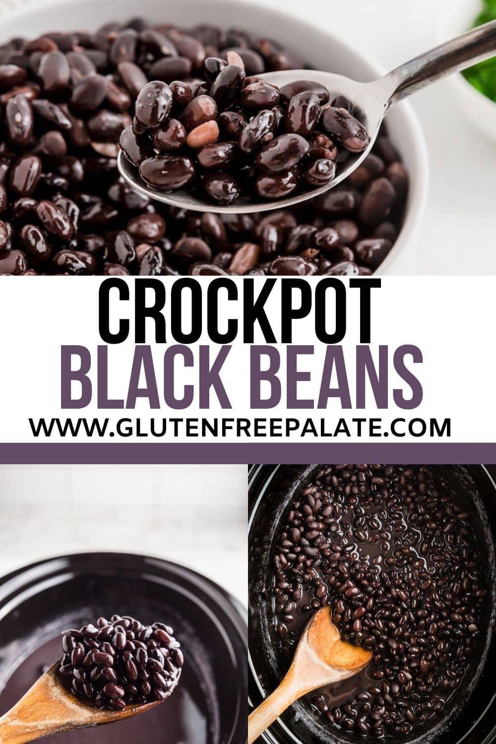 pinterest pin collage for crockpot black beans
