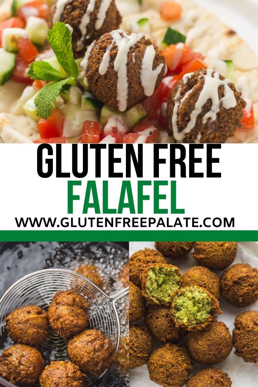 gluten free falafel pinterest pin