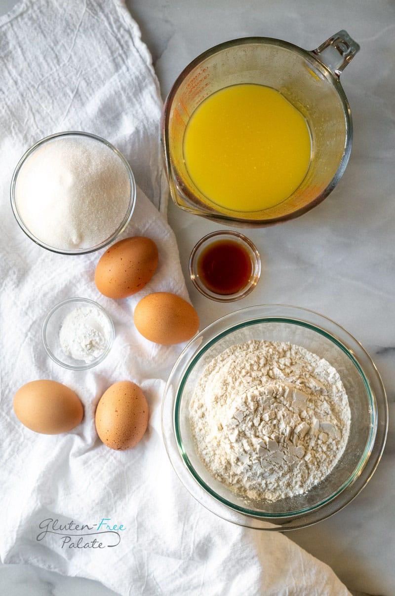 ingredients in gluten free pizzelle