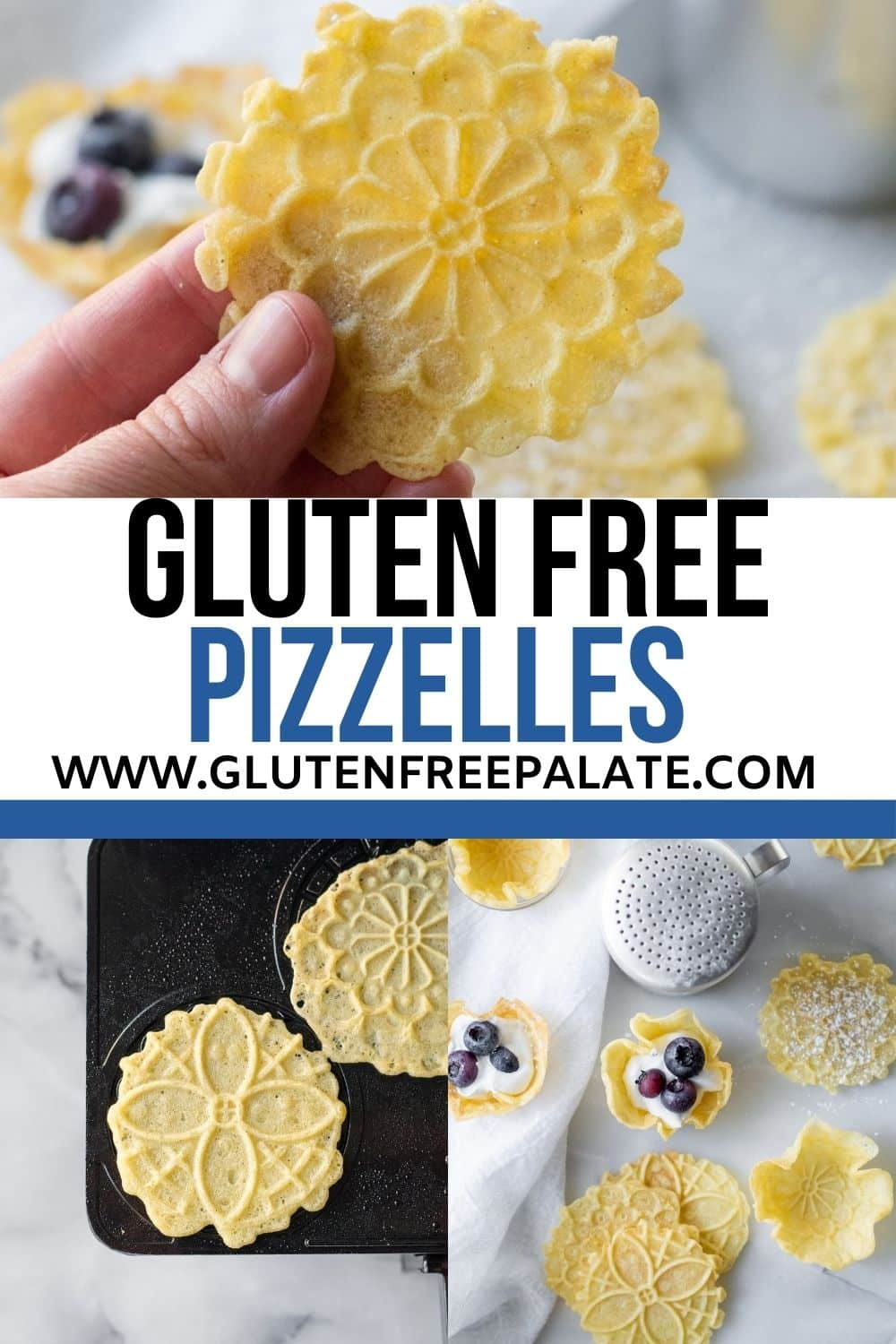pinterest pin collage for gluten free pizzelle