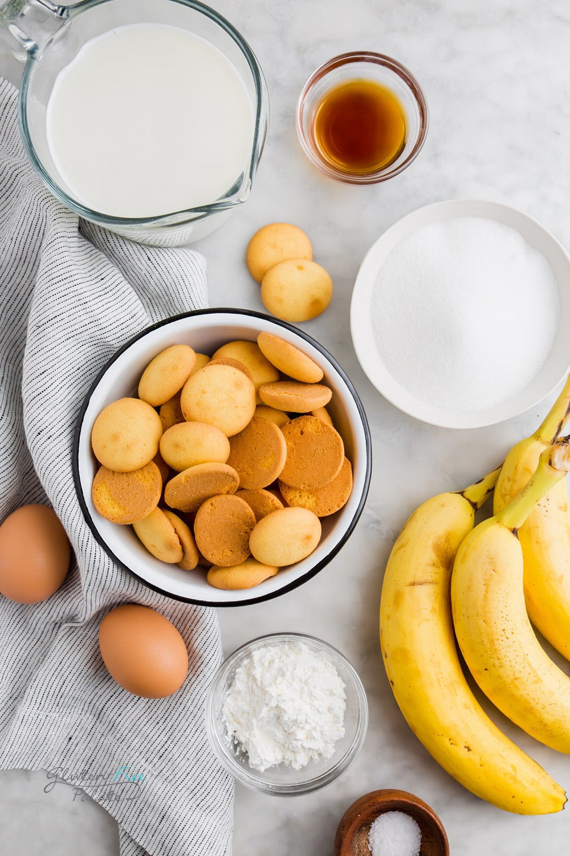 ingredients in gluten free banana pudding