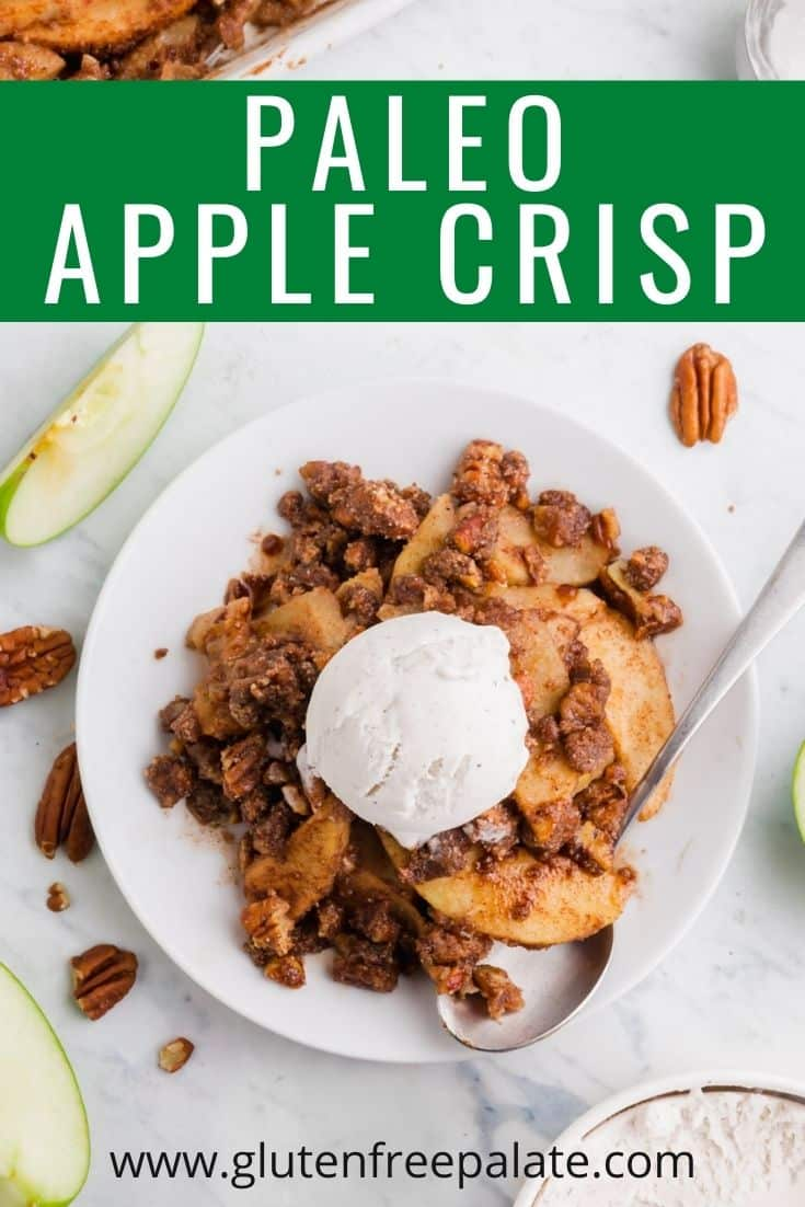 pinterest pin collage for paleo apple crisp
