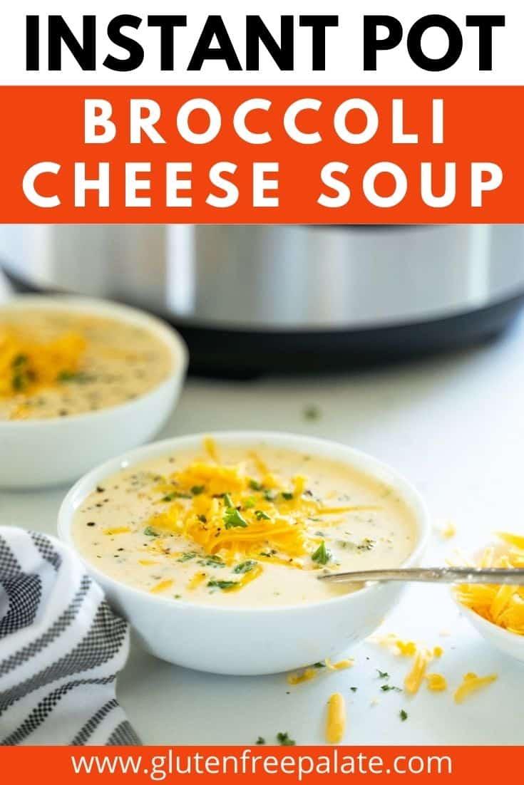 pinterest pin collage for broccoli cheese soup