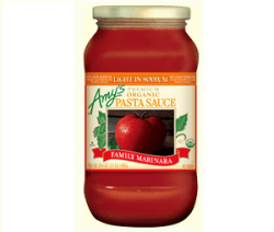 Amy's Organic Light in Sodium Family Marinara Pasta Sauce