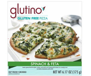 Glutino Spinach & Feta Pizza