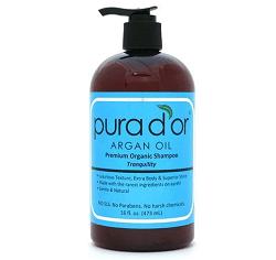 Pura D'or Premium Organic Argan Oil Based Tranquility Shampoo