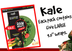 Raw Wraps Spinach- Gluten Free Wraps