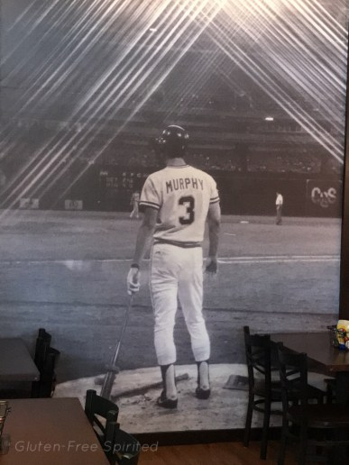 A picture of the Dale Murphy mural at Murph's.