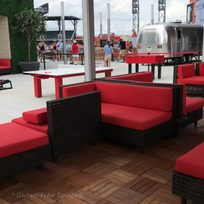 A picture of the XFinity Rooftop cabana at SunTrust Park.
