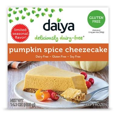 Daiya Pumpkin Spice Cheezecake is allergen-free.