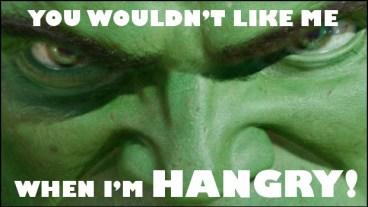 Hangry Hulk meme