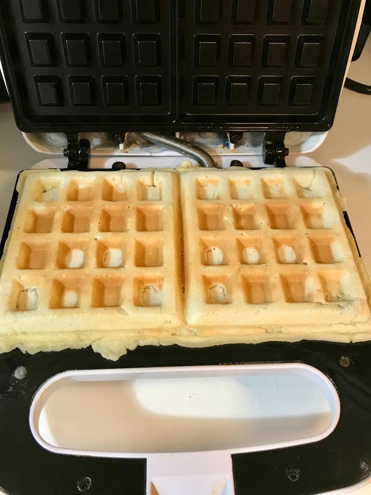 Waffles on waffle maker