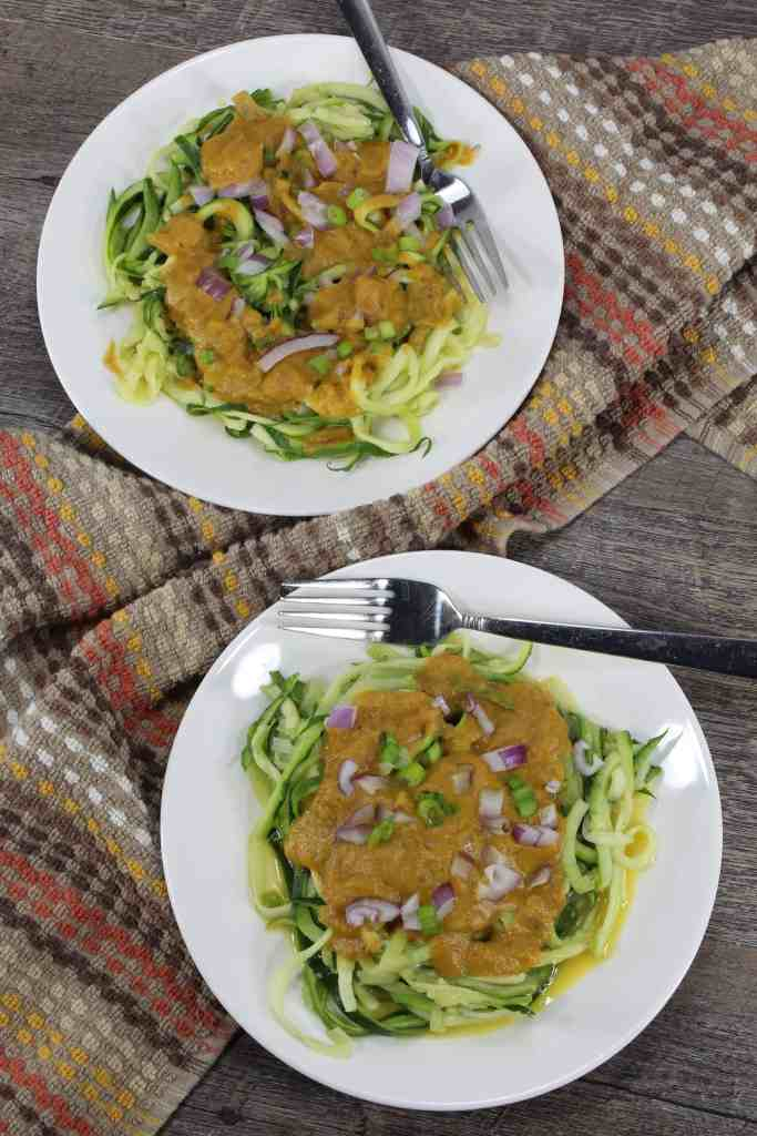 Eating keto, or gluten free and looking for something different, yet delicious? This Pumpkin Alfredo with KitchenAid Zoodles is for you!