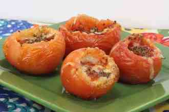 How to Make These Insanely Good Gluten Free Stuffed Tomato Pepperoni Snacks