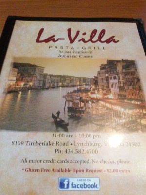 La Villa menu 1