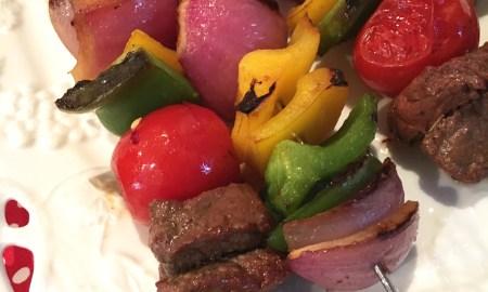 Gluten-free beef kabobs