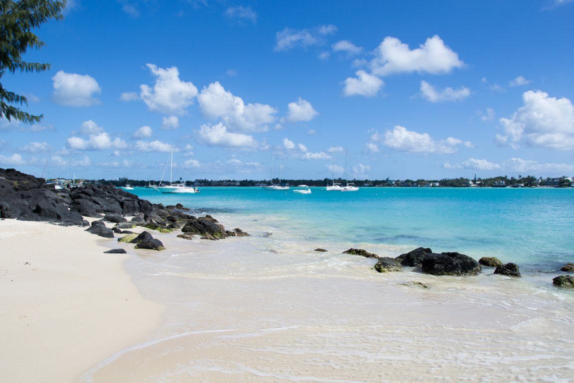 Blick auf das Meer auf Mauritius
