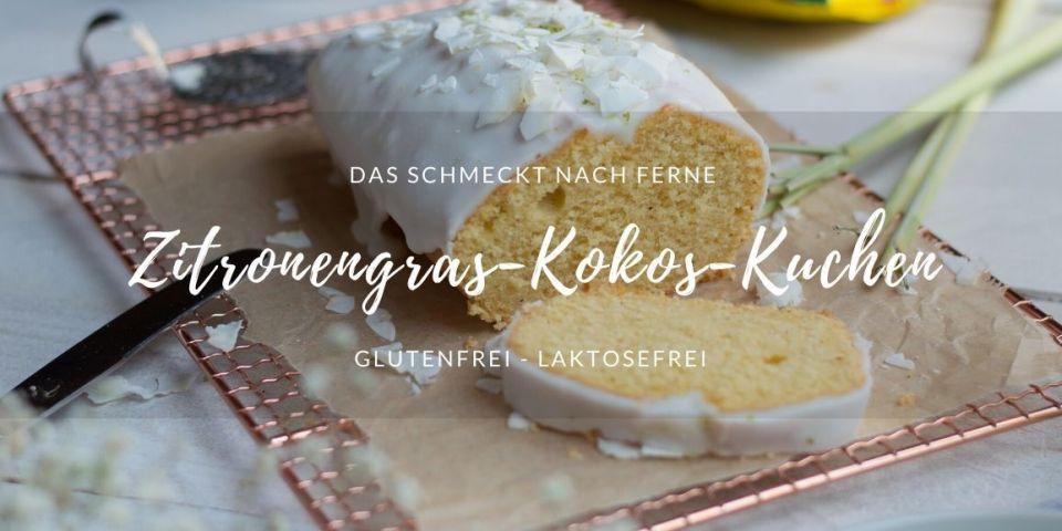 Stücke mit glutenfreiem und laktosefreiem Zitronengras Kokos Kuchen