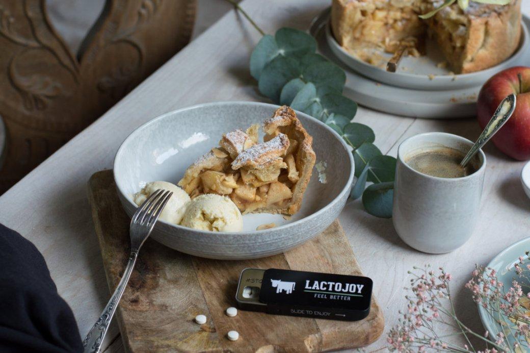 Apple Pie glutenfrei laktosefrei mit Vanilleeis