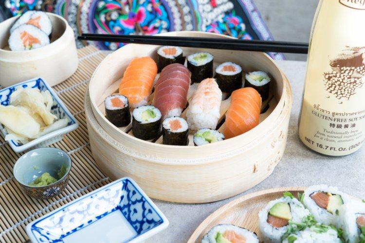 Sushi ist oft glutenfrei.