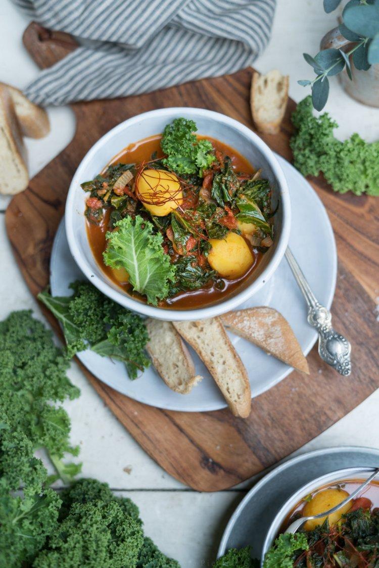 Grünkohl-Kartoffel-Eintopf - vegan und glutenfrei