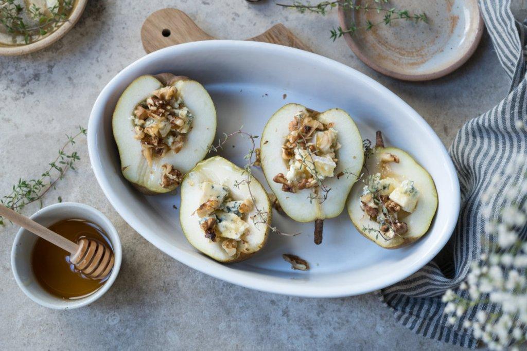 Zubereitung: überbackene Birnen