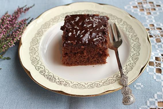 Langpanne sjokoladekake; Kvikklunsj-kake