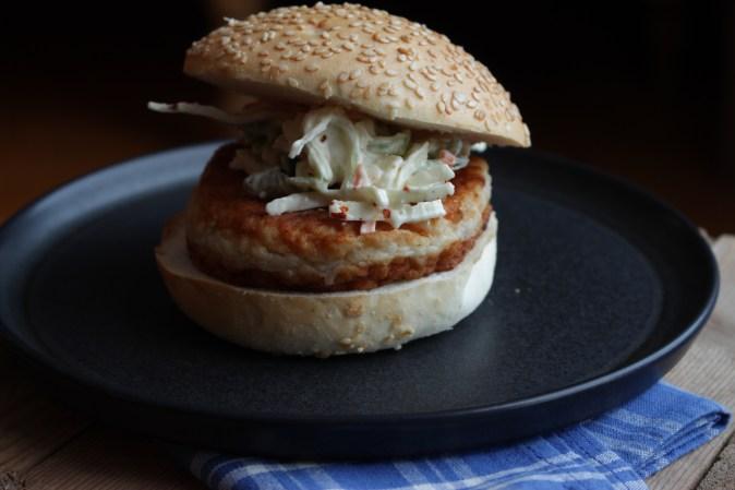 Fiskeburger med coleslaw 014