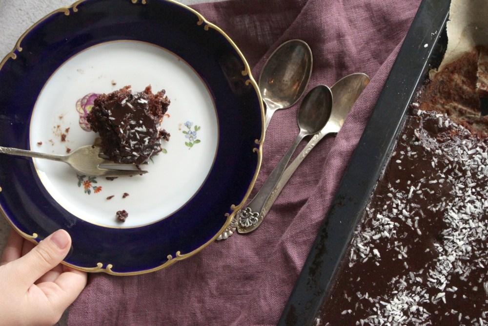 xx sjokoladekake i langpanne uten egg 283