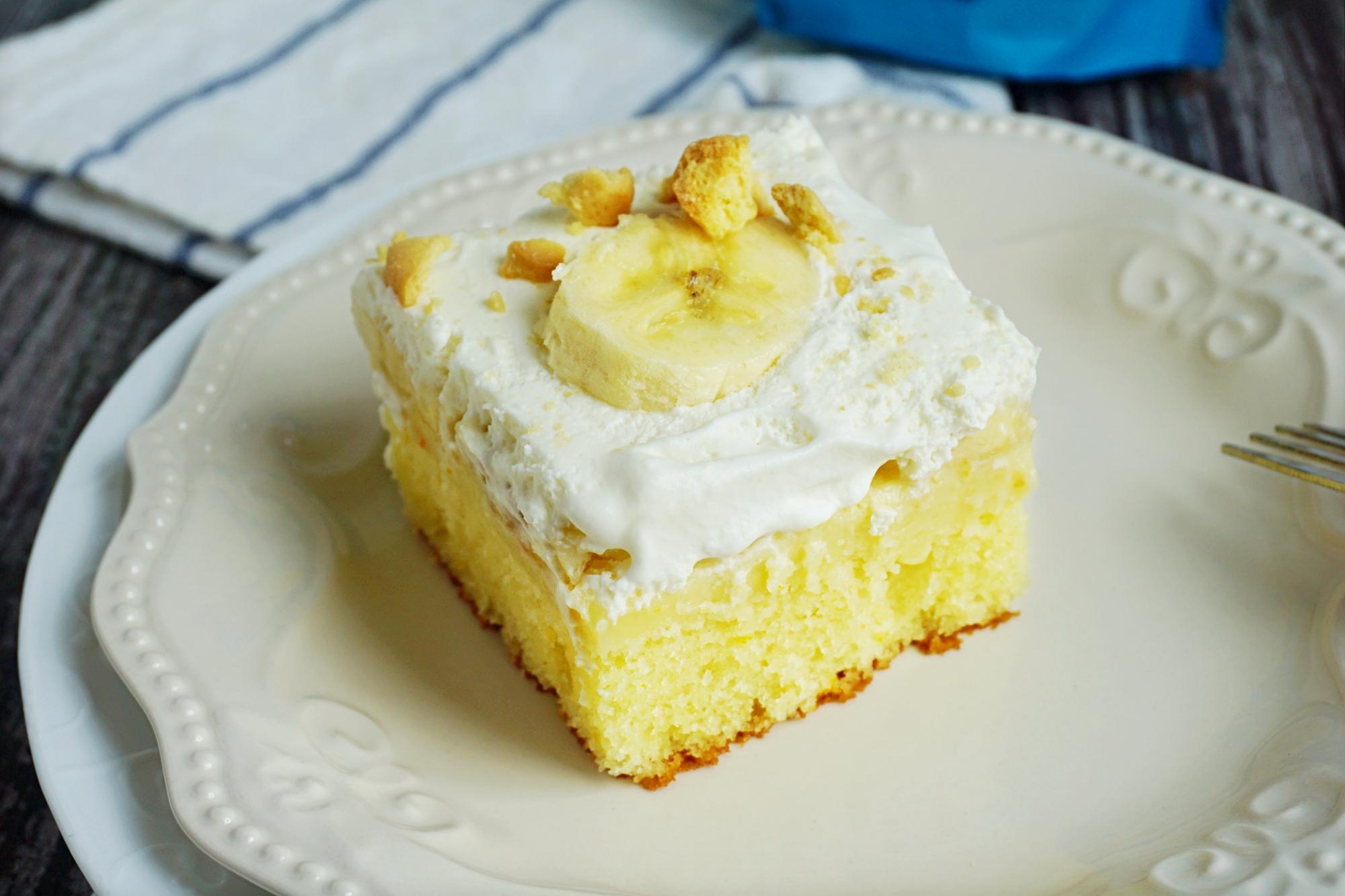 Gluten free banana cream cake