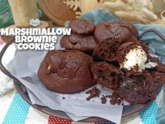 Marshmallow brownie cookies