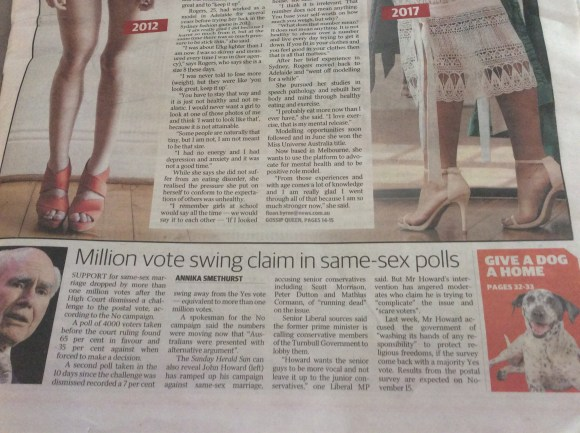 Million vote swing claim in same - sex polls article Sunday Herald Sun