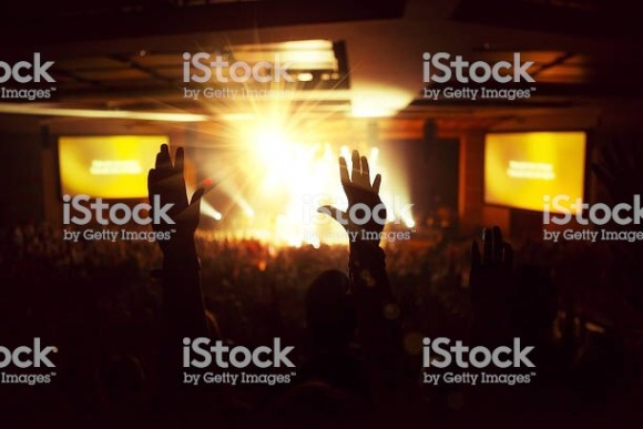 Contemporary Christian worship concert