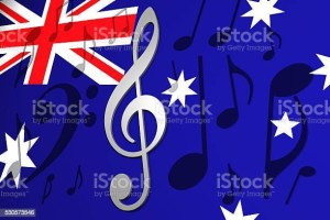 Treble clef on Australian flag