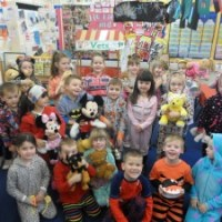 Wearing pyjamas for Children In Need