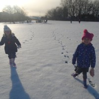 Enjoying the Snow in Reception