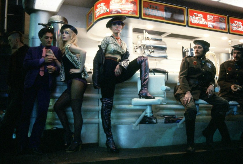Some background punks from Chinatown. Yes, that's Carrie Fisher.