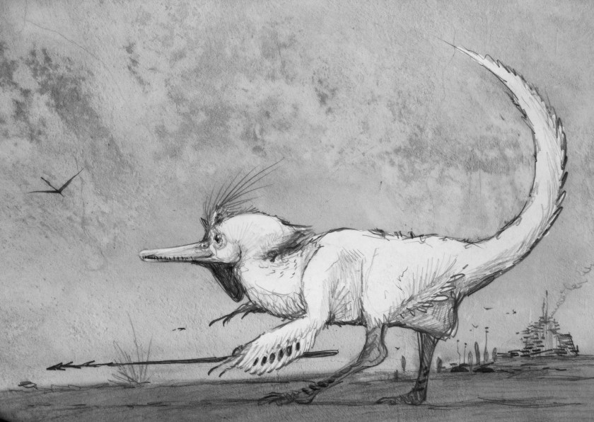 A latter-day, sapient dinosaur by Nemo Ramjet
