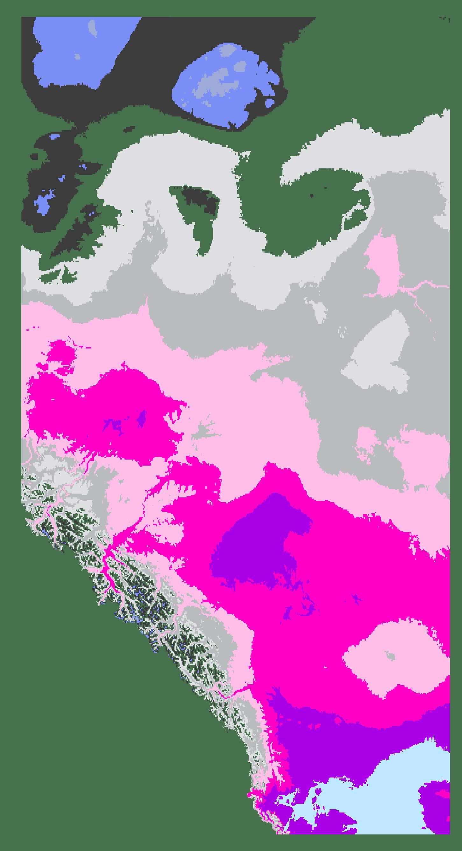 Alberta Interactive Plant Hardiness Zone Map