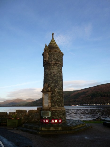 War memorial on west bank of Holy Loch