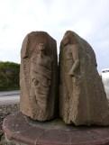 statue at Tattie Pier
