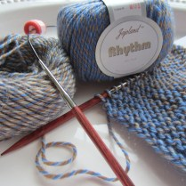 The color change in this yarn is VERY long and very subtle. Not quite what I expected.