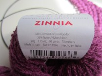 knitting, magenta, easiest shawl, Nashua yarn 009