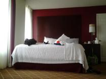 Super king size bed in one of the two bedrooms